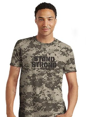 Stand Strong Shirt, Camo Gray, Large  -