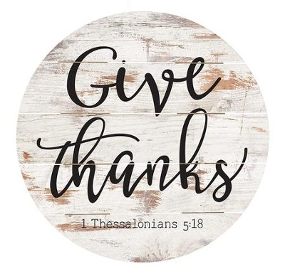 Give Thanks, Barrel Top Decor   -