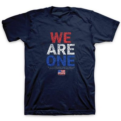 We Are One, Flag, Shirt, Navy Blue, X-Large  -