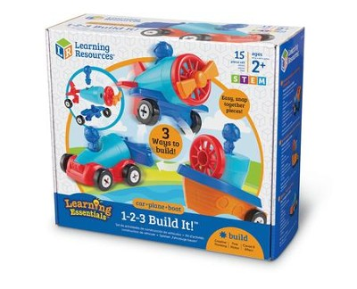 1-2-3 Build It Car-Plane-Boat  -