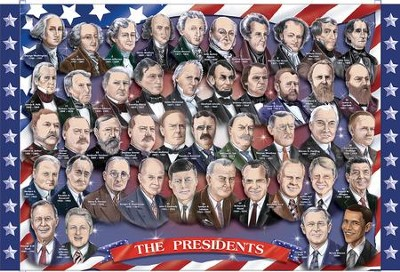 Presidents of the U.S.A. Floor Puzzle, 100 pieces  -