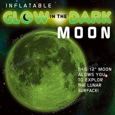 Glow in the Dark Inflatable Moon  -