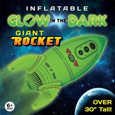 Glow in the Dark Inflatable Rocket  -