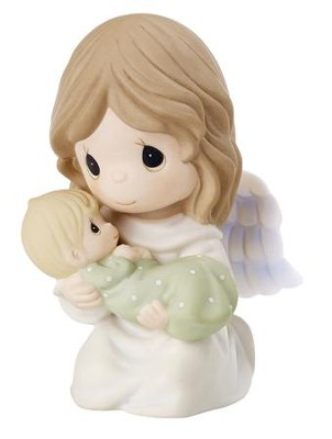 Precious Moments, Safe In The Arms Of An Angel Figure  -