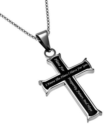 I Know, Black Iron Cross Necklace   -