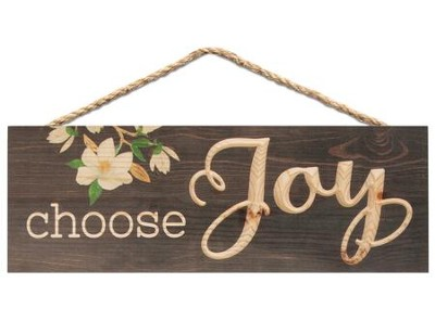 Choose Joy, Carved Hanging Sign  -
