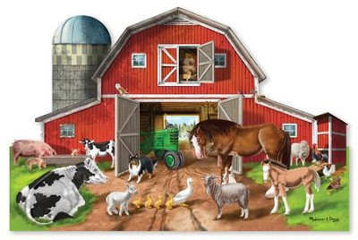 Busy Barn Shaped Floor Puzzle, 32 pieces  -