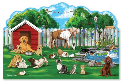 Pet Party Shaped Floor Puzzle, 32 pieces  -