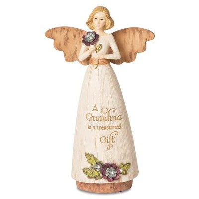 A Grandma Is A Treasured Gift Angel Figure  -