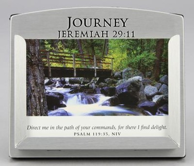 Journey Scripture Card Holder with 30 Devotional Scripture Cards  -