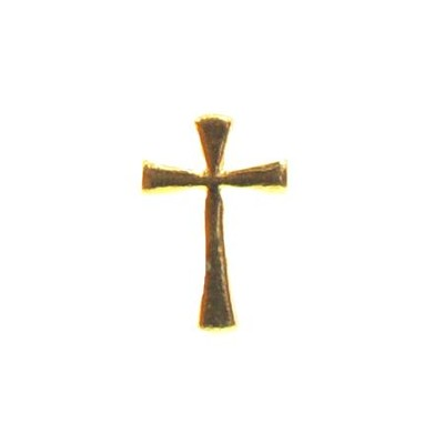 Gold Cross Lapel Pin   -