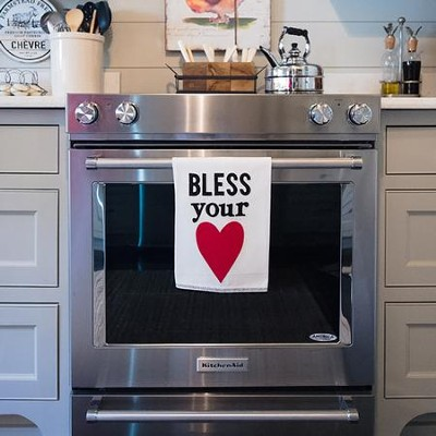 Bless Your Heart Tea Towel  -