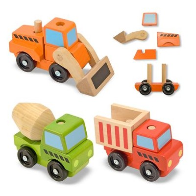 Stacking Construction Vehicles, Set of 3  -