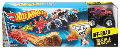 Hot Wheels Monster Jam Brick Wall Breakdown, Track Set  -