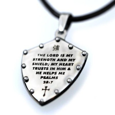Psalms 28:7 18 Stainless Steel Shield  -