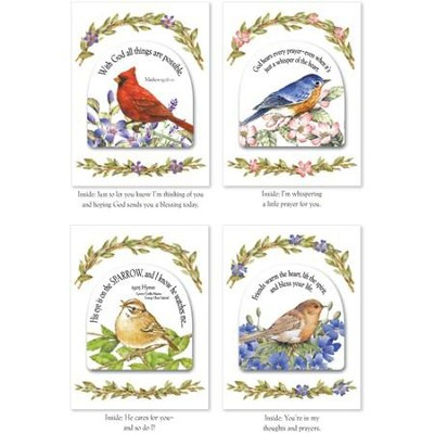 Praying for You Bird Notes with Magnets, Set of 12  -