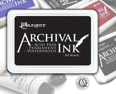Ranger Archival, Pigmented Ink Pad, Jet Black  -