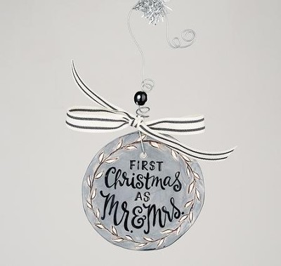 First Christmas Mr & Mrs Flat Ornament  -
