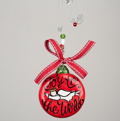 Joy to the World Puff Ornament  -