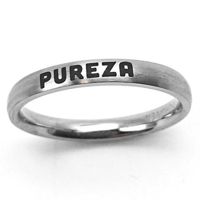 Pureza Stainless Steel Ring, Size 10  -