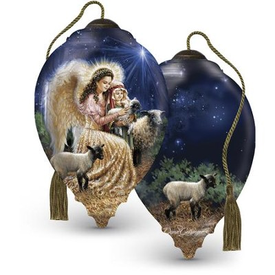Gentle Shepherd Glass Ornament  -     By: Dona Gelsinger