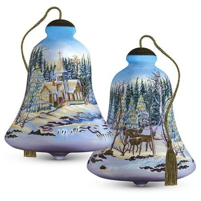 Christmas Chapel Glass Ornament  -     By: Dona Gelsinger