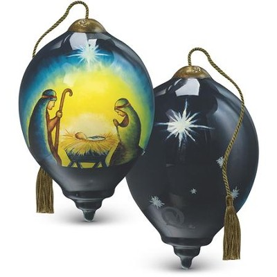 Holy Family Glass Ornament  -     By: Susan Winget