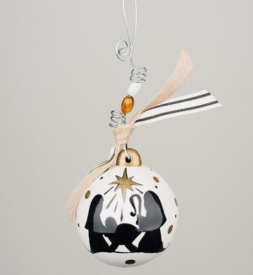 Oh Holy Night Silhouette Ball Ornament  -