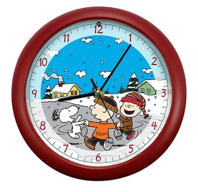 Peanuts, Dancing Friends, Christmas Carol Clock  -