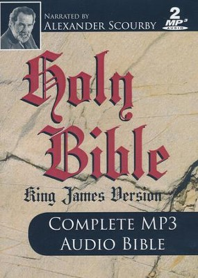 KJV Complete Bible-audio on MP3  -     Narrated By: Alexander Scourby