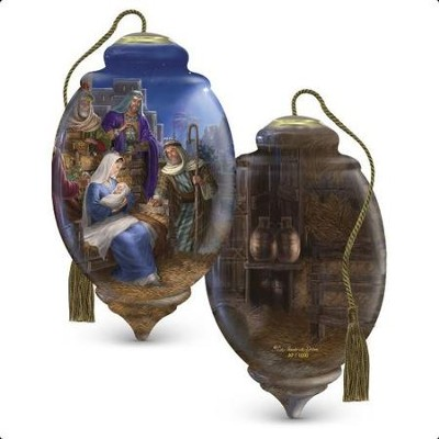 Limited Edition Nativity Glass Ornament  -     By: Liz Goodrick-Dillon