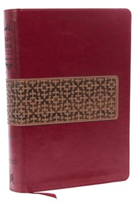 KJV Study Bible: Second Edition--soft leather-look, rich ruby/warm taupe  -