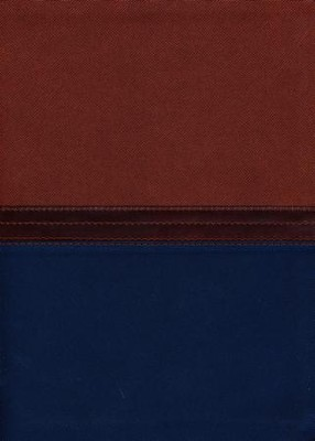 NKJV MacArthur Study Bible--soft leather-look, auburn/navy  -     By: John MacArthur