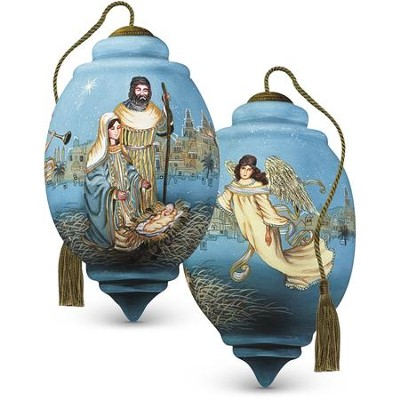Guardian Angels Nativity Glass Ornament  -     By: Liz Goodrick-Dillon