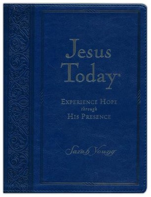 Jesus Today, Deluxe Ed., Large Print - Soft Leather-Look, Navy Blue  -     By: Sarah Young