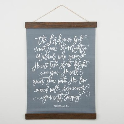 The Lord Your God Is With You Hanging Canvas  -