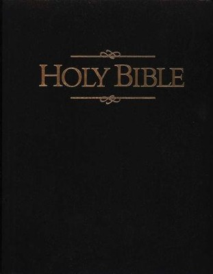 Holy Bible, Giant Print Presentation Edition Imitation Leather Black  -