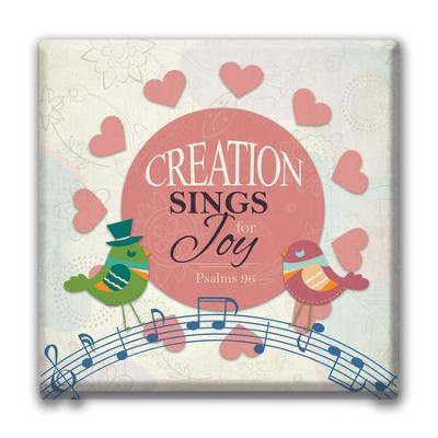 Creation Sings For Joy Canvas Wall Art  -