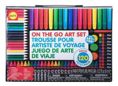 On The Go Art Set, 120 pieces  -