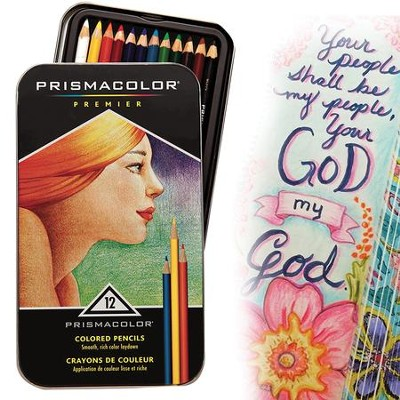 Prisma Primier Colored Pencils Tin (Set of 12 Colors)  -