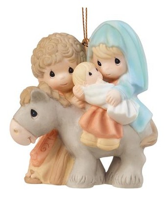 Precious Moments Holy Family Nativity Ornament  -