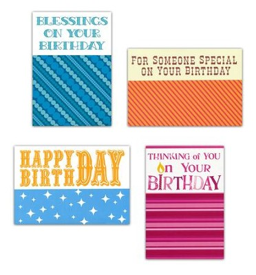Thinking of You Birthday Cards, Large Print, Box of 12  -