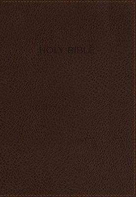 KJV Foundation Study Bible--imitation leather, earth brown (indexed)  -