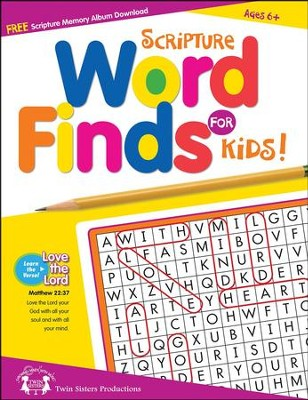 Scripture Word Find for Kids Puzzle Book   -