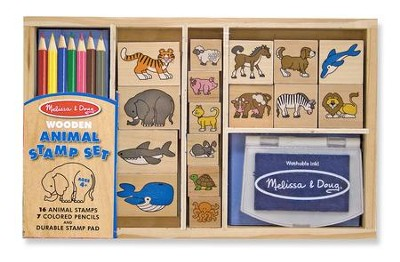 Animals, Rubber Stamp Set  -