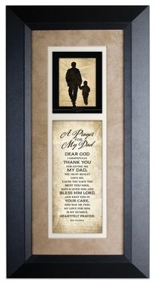 A Prayer For My Dad Framed Art  -