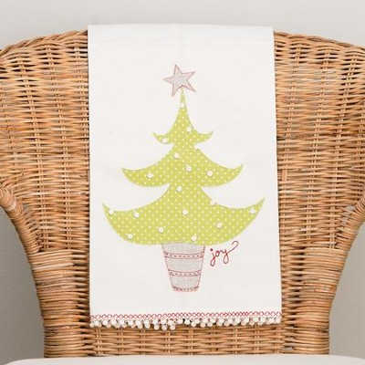 Christmas Tree/Joy Tea Towel  -