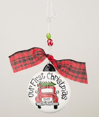Our 1st Christmas Car Puff Ornament  -