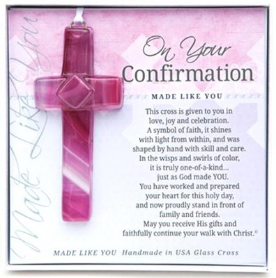 For Your Confirmation Cross Ornament, Pink  -