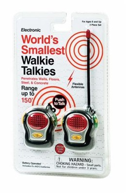 World's Smallest Walkie Talkies  -